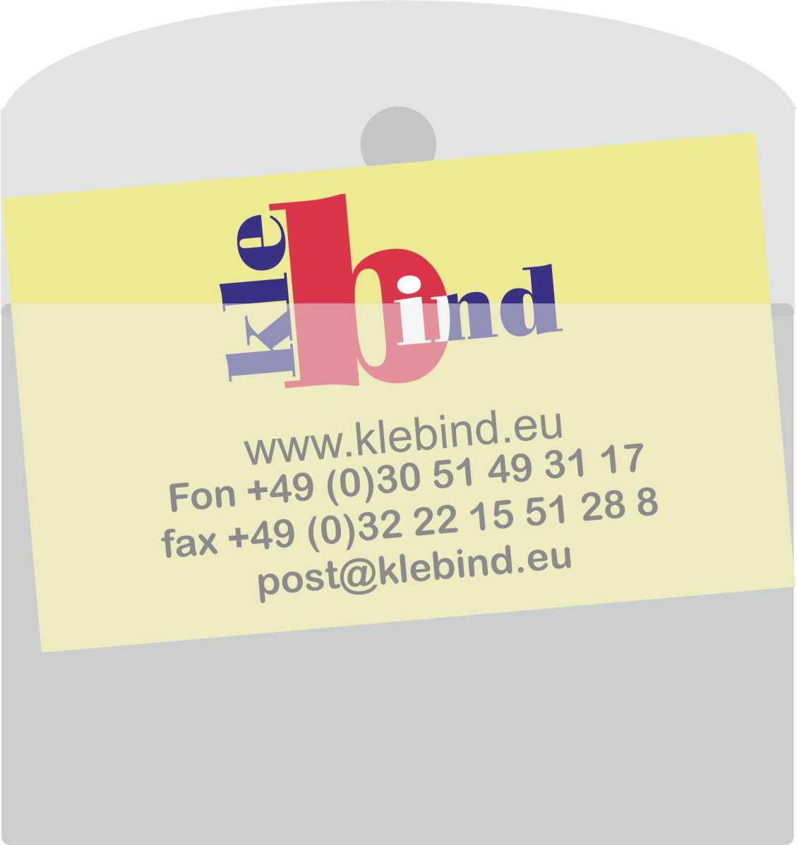 Visitenkarten Taschen Mit Klappe 105 X 60