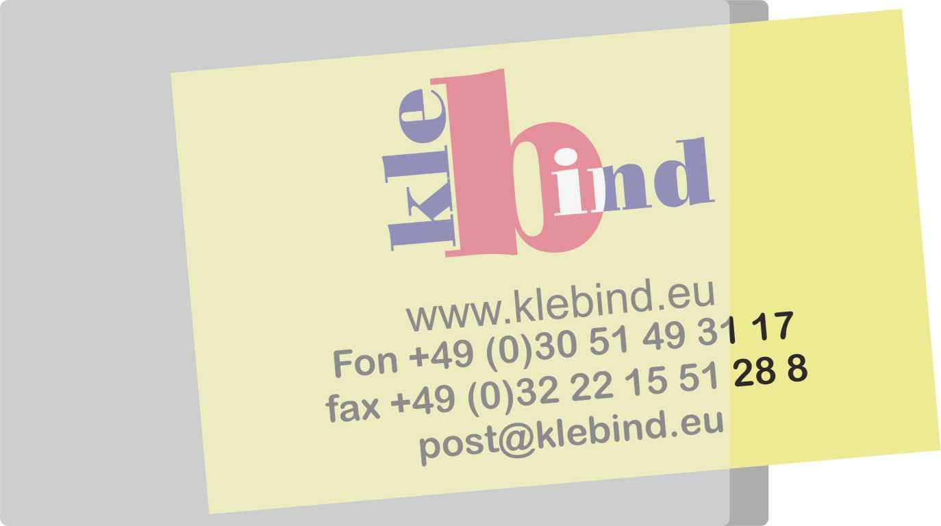 Visitenkarten Taschen 60 X 95